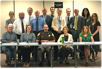A recent meeting of the Eau Claire Evidence-Based Decision Making policy team