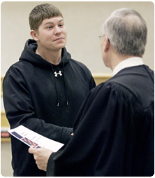Nice Rock County Circuit Court Judge James P. Daley Congratulates Casey Johnson  Of Beloit, Wisconsinu0027s